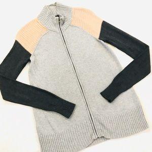 Noir Tricolor Zip-up Sweater